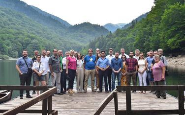 Predstavnici GP URA na Biogradskom jezeru