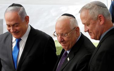Benjamin Netanjahu, Reuven Rivlin i Beni Ganc