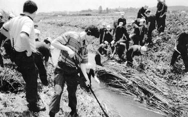Južnokorejska policija na jednom od mjesta zločina 1993. godine