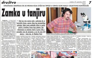 Vijesti, 20. septembar 2009.