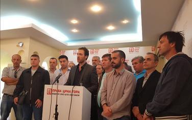 Sa konferencije za novinare Prave Crne Gore