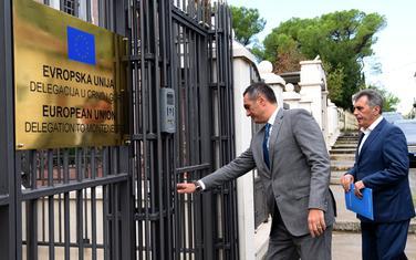 Damjanović i Đukanović stižu na sastanak