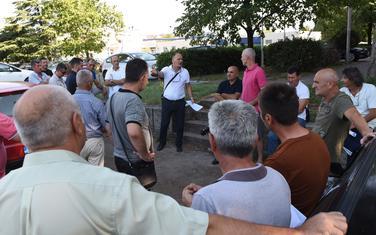 Sa protestnog okupljanja radnika Montecarga protiv sporne raspodjele novca