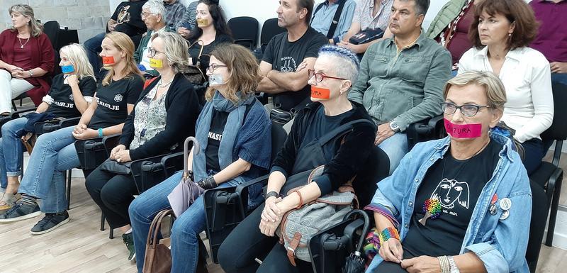 """Aktivistkinje NVO """"Anima"""" na prošlonedjeljnom festivalu """"Kotorski krug"""""""