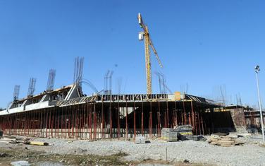 Izgradnja sportske dvorane, fotografija iz 2010. godine