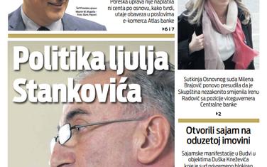 """Naslovna strana """"Vijesti"""" za 28. septembar"""