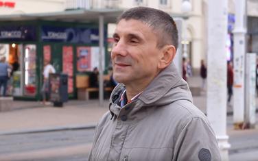 Siniša Labrović na Trgu bana Jelačića