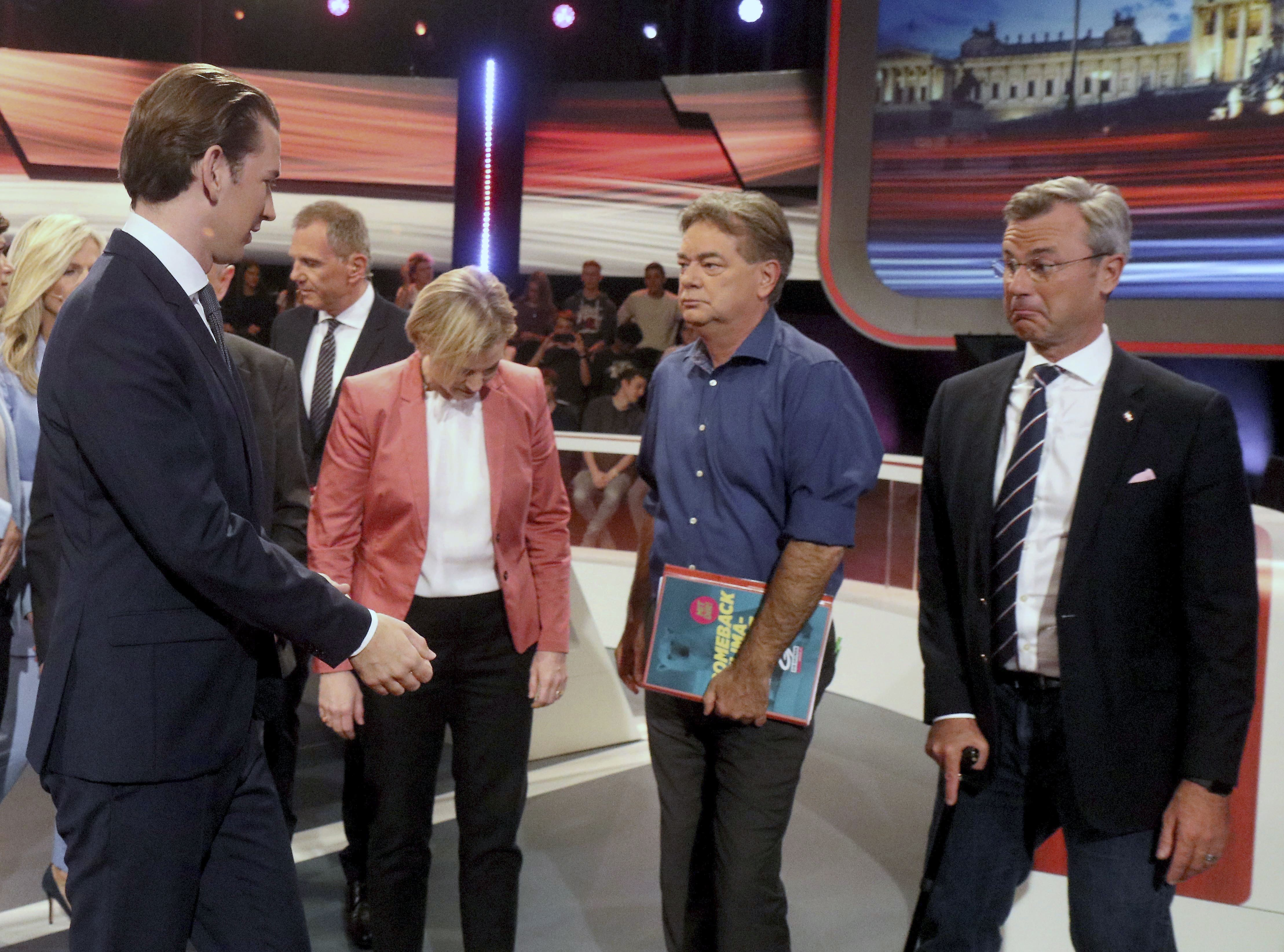 Kandidati pred TV debatu