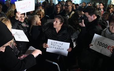 Sa prvog protesta ispred VDT-a 2. februara