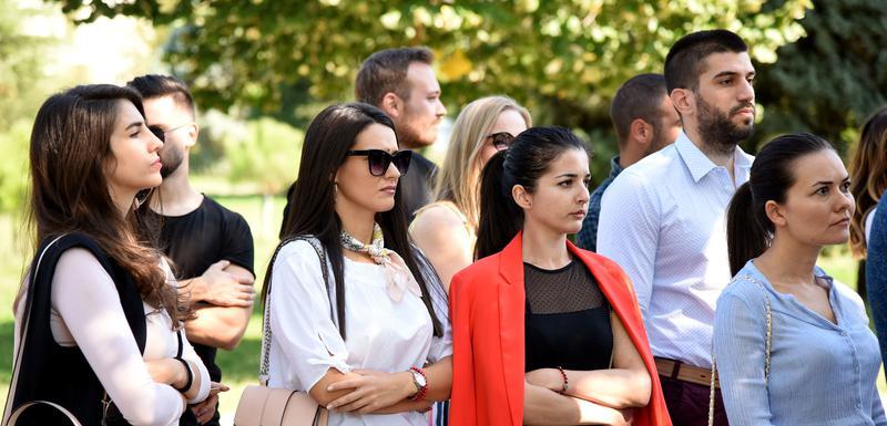 Sa nedavnog protesta studenata ispred Rektorata