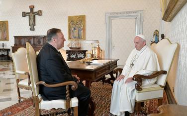 Pompeo i papa Franjo