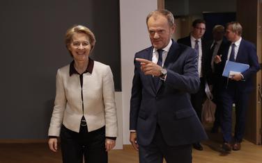 Ursula fon der Lejen i Donald Tusk