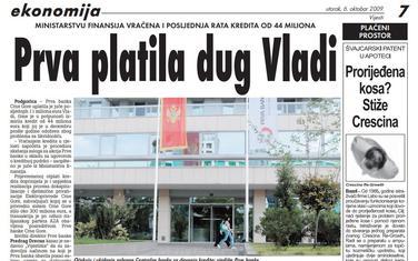 Vijesti, 6. oktobar 2009.