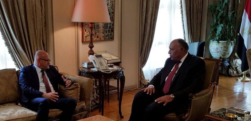 Srđan Darmanović u razgovoru sa Samehom Hassanom Shoukryjem