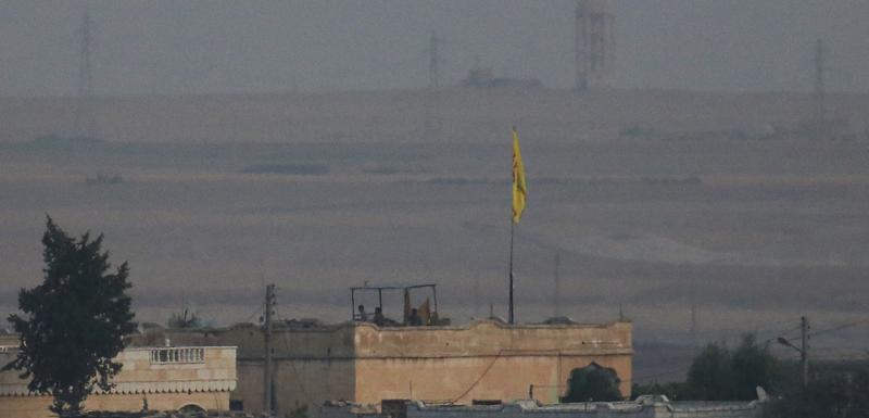 Položaj kurdskih Jedinica za zaštitu naroda u blizini sirijsko-turske granice