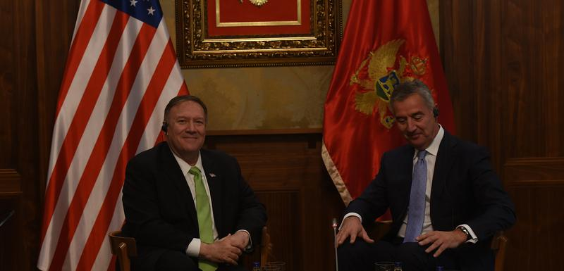 Pompeo i Đukanović