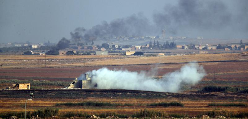 Dim na granici Turske i Sirije