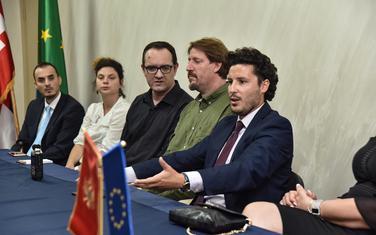 Tokom posjete delegacije Zelenih pokretu URA