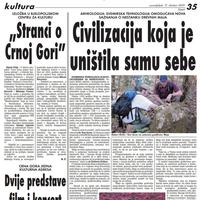 Vijesti, 12. oktobar 2009. godine