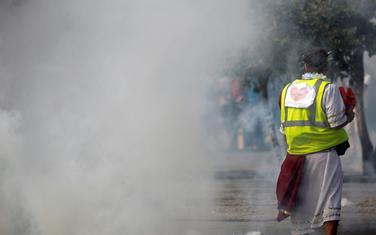 """Sa jednog od ranijih protesta """"Žutih prsluka"""""""