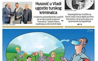 """Naslovna strana """"Vijesti"""" za 13. oktobar 2019. godine"""