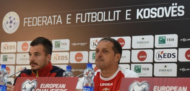 Hadžibegić i Mugoša na pres konferenciji u Prištini