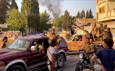 Sirijski pobunjenici koji podržavaju Tursku