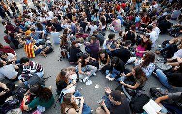 Studenti u Barseloni nakon izricanja presude