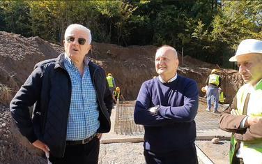 Marković (lijevo) tokom posjete Bijelom Polju