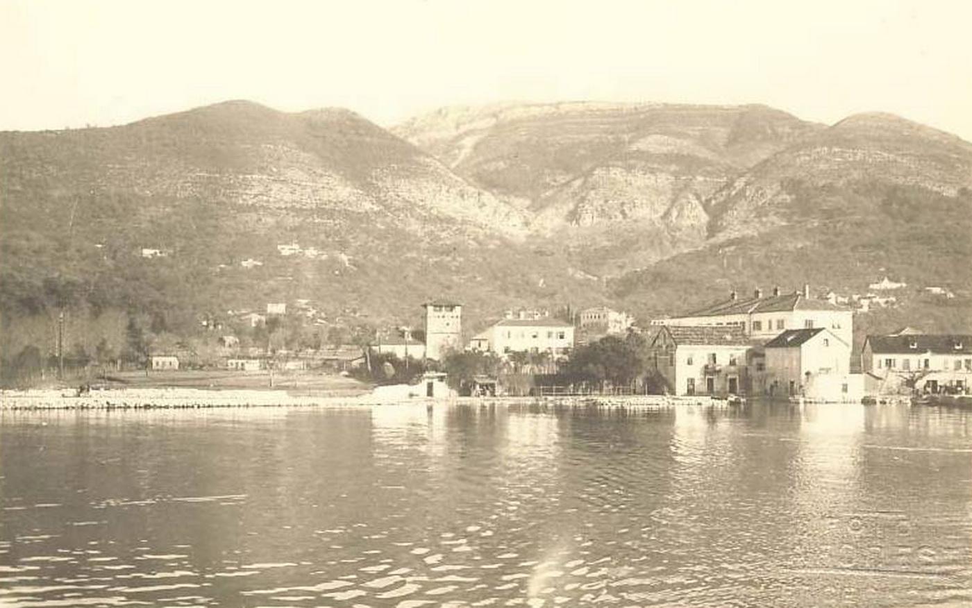 Nekadašnji izgled ljetnjikovca Buća-Luković u Tivtu