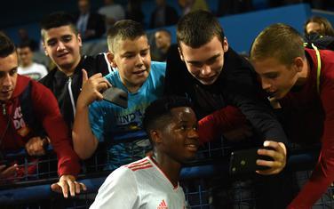 Ansu Fati sa navijačima u Podgorici