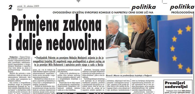 """Stranica """"Vijesti"""" od 16. oktobra 2019"""