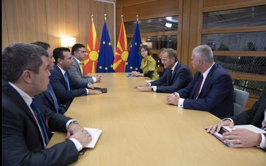 Zaev na sastanku sa Donaldom Tuskom u Briselu