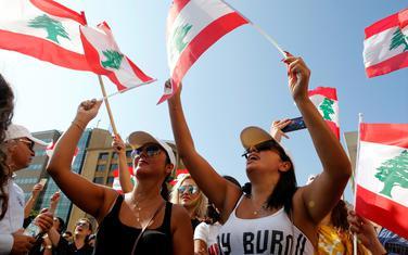 Sa protesta u Bejrutu, glavnom gradu Libana