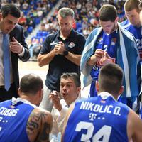 Mijović i košarkaši Budućnosti