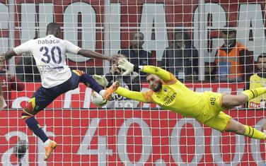 Babakar postiže gol za 1:1