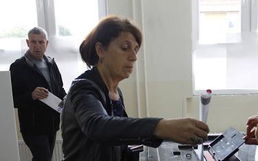 Detalj sa glasanja u Kosovskoj Mitrovici