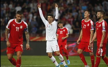 Sa utakmice Srbija - Portugal