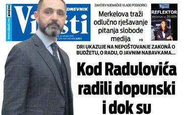 """Naslovna strana """"Vijesti"""" za 22. oktobar 2019."""
