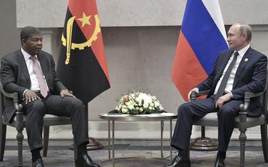Predsjednik Angole Joao Lorenco sa Putinom u Johanesburgu u julu 2018