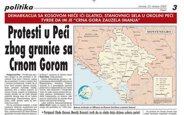 """Stranica """"Vijesti"""" od 22. oktobra 2009."""