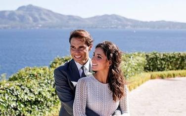 Rafael Nadal i njegova supruga Meri Pereljo