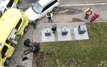 Policija savladava muškarca