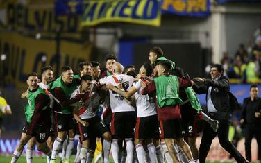 Slavlje igrača Rivera poslije meča