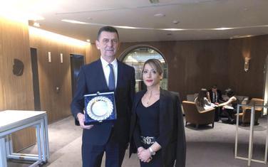 Bajčetić sa ambasadorkom Marijom Petrović