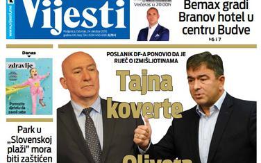 """Naslovna strana """"Vijesti"""" za 24.10."""