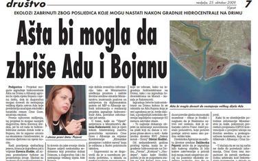 Vijesti, 25. oktobar 2009.