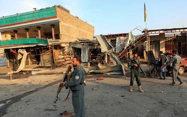 Avganistanska policija na mjestu napada u Džalalabadu