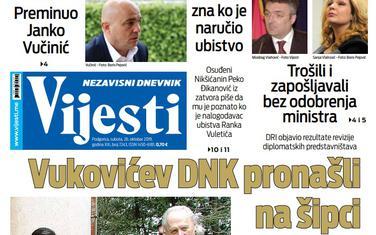 """Naslovna strana """"Vijesti"""" za 26. oktobar 2019."""