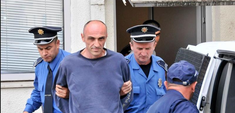 Đikanović nakon što je uhapšen zbog ubistva 2016. godine